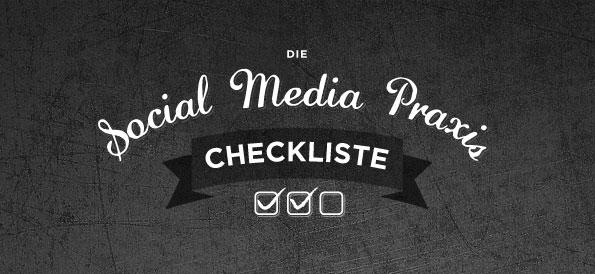 Social Media Praxis Checkliste als Poster